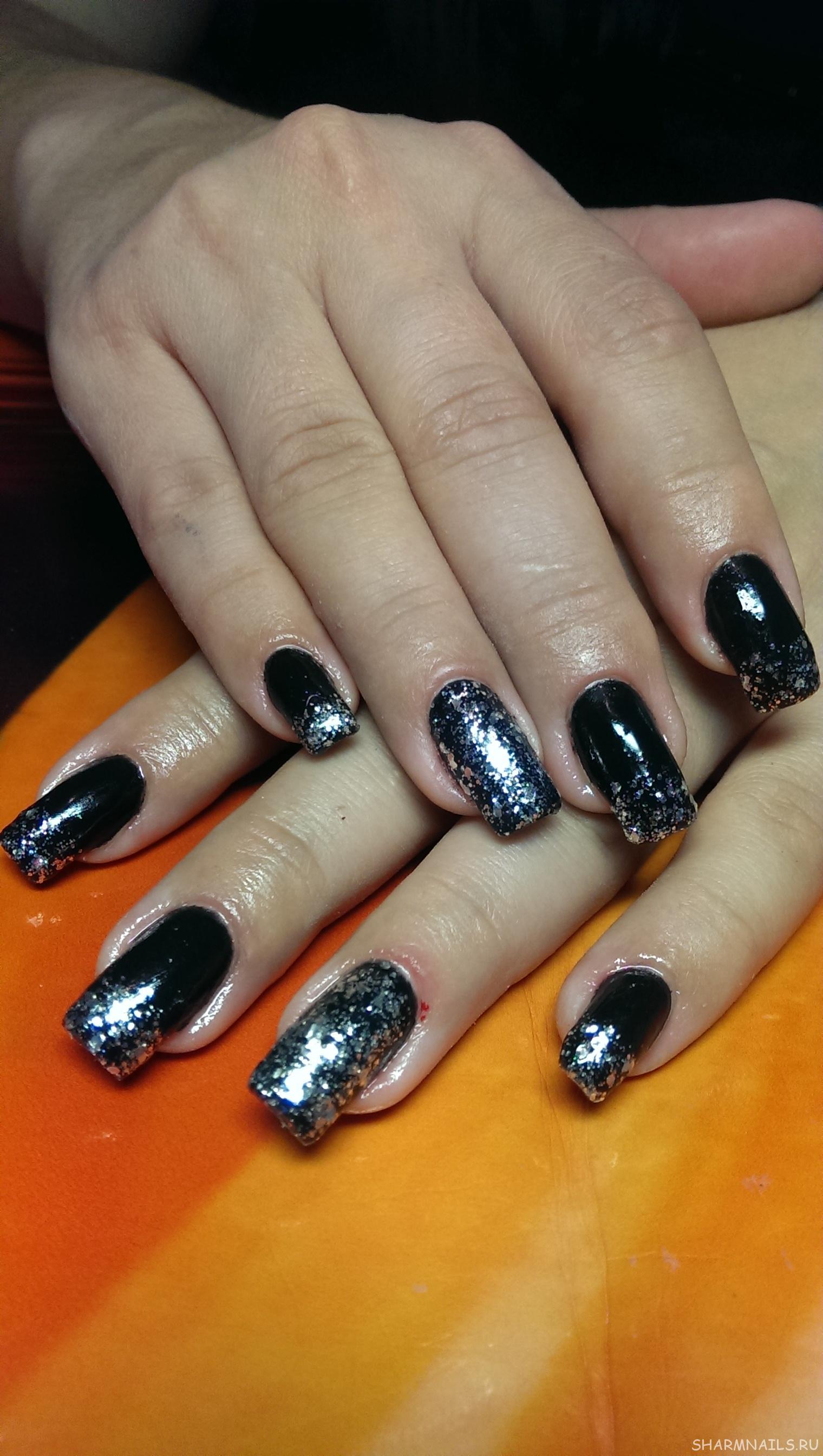 Лак на нарощенных ногтях фото