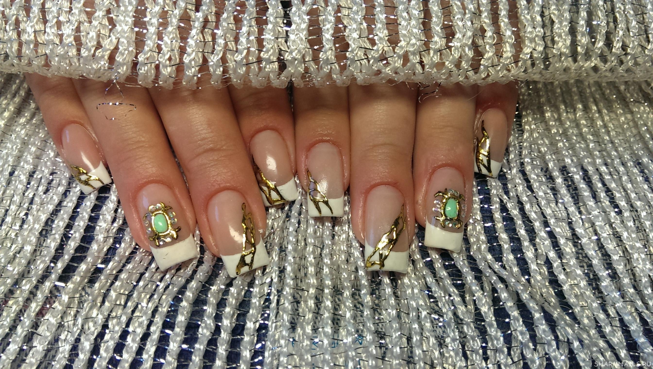 Фото нарощенных ногтей жидкий камень